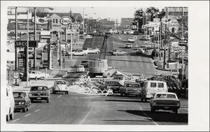 Primary view of object titled '[Martin Luther King Jr. Blvd. from Nueces]'.