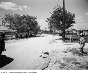 Primary view of object titled '[Widening of Woodrow Avenue]'.