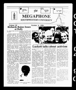 The Megaphone (Georgetown, Tex.), Vol. 85, No. 6, Ed. 1 Thursday, October 4, 1990