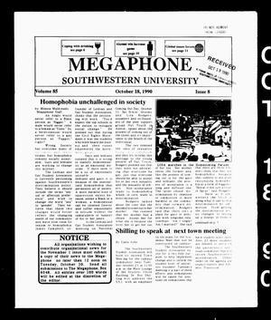 The Megaphone (Georgetown, Tex.), Vol. 85, No. 8, Ed. 1 Thursday, October 18, 1990