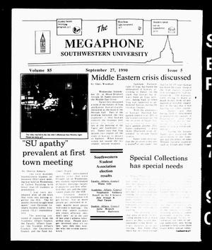 The Megaphone (Georgetown, Tex.), Vol. 85, No. 5, Ed. 1 Thursday, September 27, 1990