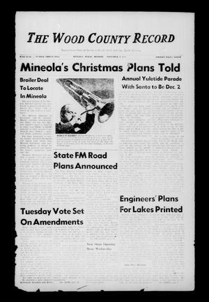 The Wood County Record (Mineola, Tex.), Vol. 27, No. 32, Ed. 1 Monday, November 4, 1957