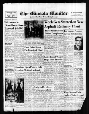 The Mineola Monitor (Mineola, Tex.), Vol. 85, No. 50, Ed. 1 Wednesday, February 14, 1962