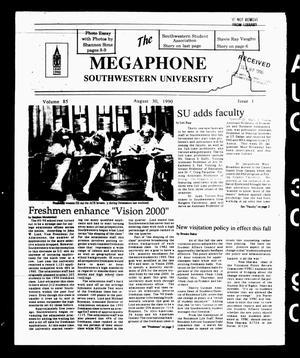 The Megaphone (Georgetown, Tex.), Vol. 85, No. 1, Ed. 1 Thursday, August 30, 1990