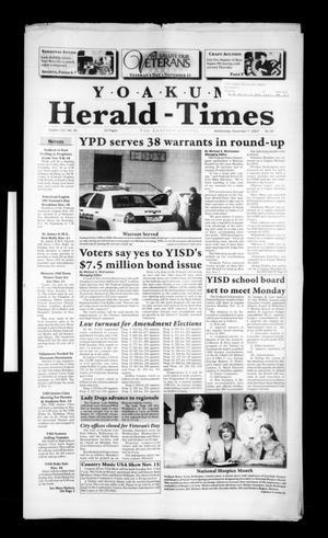 Yoakum Herald-Times (Yoakum, Tex.), Vol. 115, No. 45, Ed. 1 Wednesday, November 7, 2007