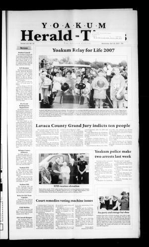 Yoakum Herald-Times (Yoakum, Tex.), Vol. 115, No. 16, Ed. 1 Wednesday, April 18, 2007