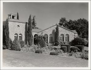 Primary view of object titled '[Building at Austin Memorial Park Cemetery]'.