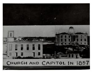 Primary view of [Baptist Church and Capitol Building]