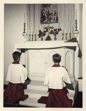 Primary view of object titled '[Altar Boys at St. David's Episcopal Church]'.