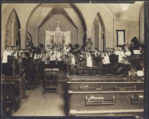 Primary view of object titled '[Choir Singing at St. David's Episcopal Church]'.
