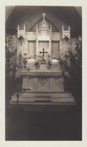 Primary view of object titled '[Altar of St. David's Episcopal Church]'.