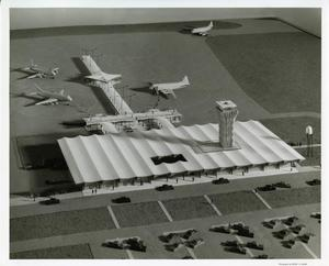 Primary view of object titled '[Construction Model of the Municipal Airport]'.