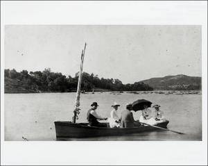 Primary view of object titled '[People in Boat on Colorado River]'.