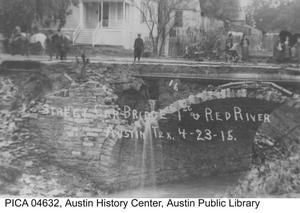 Primary view of [Street Car Bridge over Waller Creek]