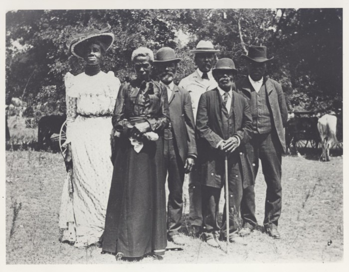 First side of: [Emancipation Day Celebration, June 19, 1900], a photograph available in the The Portal to Texas History