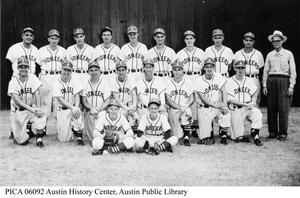 "Primary view of object titled '""Austin Pioneers"" Baseball Club'."