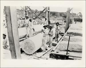 Primary view of object titled 'Convict Laborers Shaping Columns'.