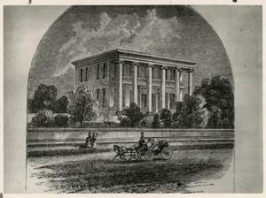 Primary view of object titled '[Drawing of the Governor's Mansion]'.