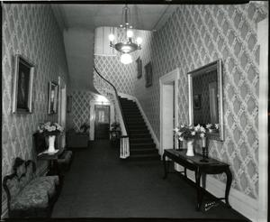 Primary view of [Governor's Mansion interior hallway with staircase]