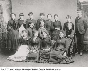 1887 Graduating class of Austin High School