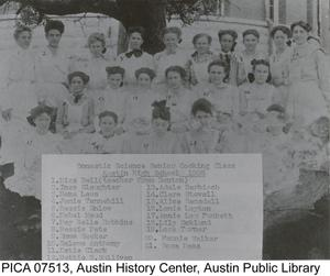 Primary view of Domestic Science Senior Cooking Class, Austin High School, 1908