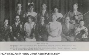 Primary view of object titled '[Photograph of Austin High School Violin Club]'.