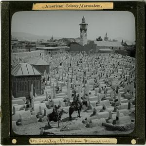 Primary view of Glass Slide of the Cemetery of Median (Damascus, Syria)