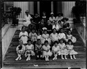 Primary view of object titled '[Group of Children at Governor's Mansion]'.