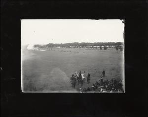 Primary view of object titled '[Sham Battle, Camp Mabry]'.