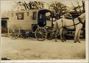 Primary view of object titled 'Austin's First Ambulance'.