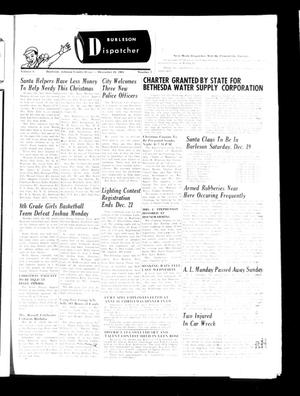 Burleson Dispatcher (Burleson, Tex.), Vol. 6, No. 2, Ed. 1 Wednesday, December 16, 1964