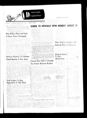 Burleson Dispatcher (Burleson, Tex.), Vol. 5, No. 36, Ed. 1 Wednesday, August 12, 1964