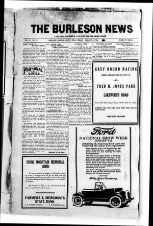 The Burleson News (Burleson, Tex.), Vol. 29, No. 18, Ed. 1 Friday, January 8, 1926