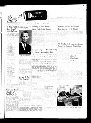 Burleson Dispatcher (Burleson, Tex.), Vol. 5, No. 11, Ed. 1 Wednesday, February 19, 1964