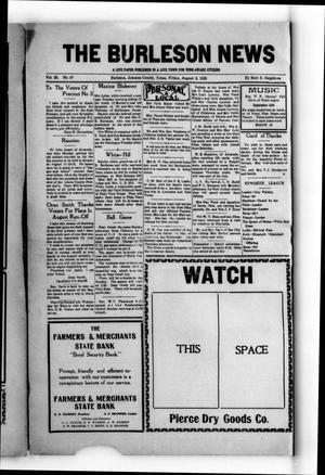 The Burleson News (Burleson, Tex.), Vol. 29, No. 47, Ed. 1 Friday, August 6, 1926