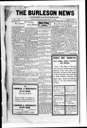 The Burleson News (Burleson, Tex.), Vol. 29, No. 39, Ed. 1 Friday, June 11, 1926