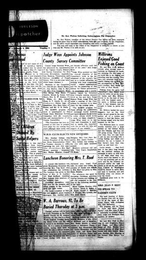 Burleson Dispatcher (Burleson, Tex.), Vol. 6, No. 5, Ed. 1 Wednesday, January 6, 1965