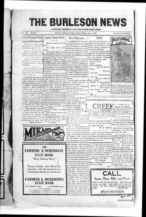 The Burleson News (Burleson, Tex.), Vol. 29, No. 38, Ed. 1 Friday, June 4, 1926