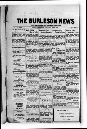 The Burleson News (Burleson, Tex.), Vol. 29, No. 25, Ed. 1 Friday, March 5, 1926