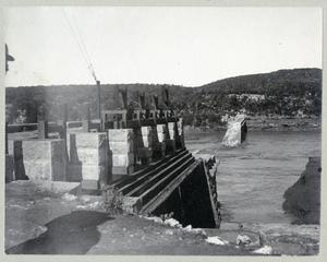 Primary view of object titled '[Austin Dam broken in Colorado River flood]'.