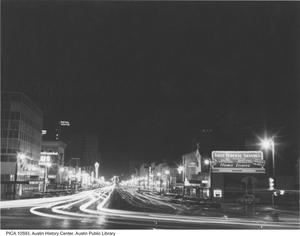 Primary view of object titled '[Headlights on Congress Avenue]'.