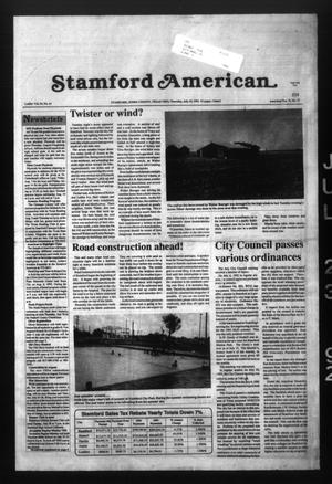 Stamford American (Stamford, Tex.), Vol. 71, No. 17, Ed. 1 Thursday, July 23, 1992
