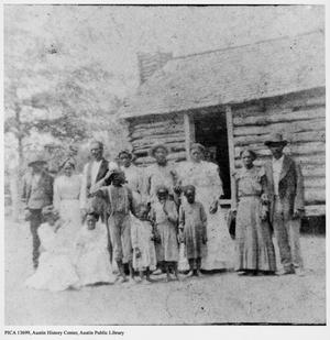 Primary view of object titled '[African-American families]'.