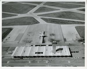Primary view of object titled '[Aerial View of Austin Municipal Airport]'.