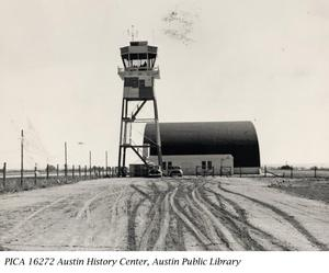 Primary view of object titled '[Municipal Airport Control Tower & Hangar]'.