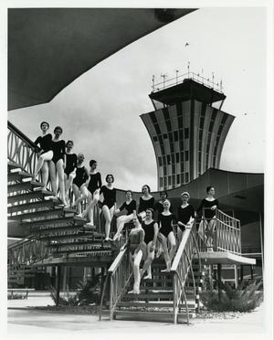 Primary view of object titled '[The Austin Ballet Society at the Municipal Airport]'.
