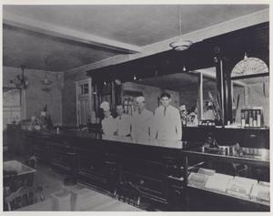 Primary view of object titled '[Bar at Scholz Beer Garten]'.