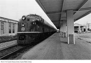 Primary view of object titled 'Last Eagle passenger train through Austin'.