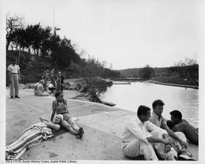 Primary view of object titled '[People at Barton Springs]'.