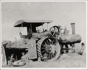 Primary view of object titled 'Steam Threshing Tractor'.